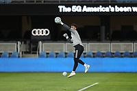 SAN JOSE, CA - OCTOBER 18: San Jose Earthquakes goalkeeper JT Marcinkowski #18 before a game between Seattle Sounders FC and San Jose Earthquakes at Earthquakes Stadium on October 18, 2020 in San Jose, California.