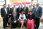 Drogheda Economic Forum, Mark Markey, County Manager, Con Murray, Padraig Kierans, Michael McCabe, Ronan Dennedy, Sean McEntee, Graham O'Rourke, Michael Curran, Mayor Michael O'Dowd, Chairperson Patricia Rooney and Town Clerk Joan Martin at the Launch of the new Brand for Drogheda Economic Forum...Photo NEWSFILE/Jenny Matthews.(Photo credit should read Jenny Matthews/NEWSFILE)....This Picture has been sent you under the condtions enclosed by:.Newsfile Ltd..The Studio,.Millmount Abbey,.Drogheda,.Co Meath..Ireland..Tel: +353(0)41-9871240.Fax: +353(0)41-9871260.GSM: +353(0)86-2500958.email: pictures@newsfile.ie.www.newsfile.ie.FTP: 193.120.102.198.