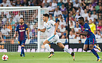 Marco Asensio Willemsen (l) of Real Madrid fights for the ball with Nelson Cabral Semedo of FC Barcelona during their Supercopa de Espana Final 2nd Leg match between Real Madrid and FC Barcelona at the Estadio Santiago Bernabeu on 16 August 2017 in Madrid, Spain. Photo by Diego Gonzalez Souto / Power Sport Images