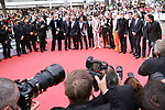 """Cannes Film Festival 2021. 74th edition of the 'Festival International du Film de Cannes' under Covid-19 outbreak on 12/07/2021 in Cannes, France. for the Guests for the screening of the film """"The French Dispatch""""  Bill Murray, Hippolyte Girardot, Adrien Brody, Timothée Chalamet, Wes Anderson, Lyna Khoudri, Tilda Swinton, Alexandre Desplat, Stephen Park, Mathieu Amalric and Benicio Del Toro.<br /> © Pierre Teyssot / Maxppp"""