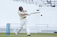 Jamie Overton of Surrey pulls to long on during Surrey CCC vs Hampshire CCC, LV Insurance County Championship Group 2 Cricket at the Kia Oval on 1st May 2021