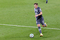 ST PAUL, MN - OCTOBER 18: Robin Lod #17 of Minnesota United FC passes the ball during a game between Houston Dynamo and Minnesota United FC at Allianz Field on October 18, 2020 in St Paul, Minnesota.