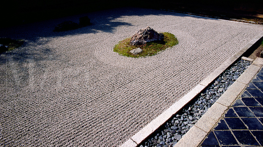 The Stone Garden at Ryoanji Temple, Kyoto, Japa