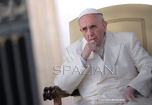 Pope Francis during his weekly general audience in St. Peter square at the Vatican, Wednesday. Febraury 12, 2014