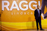 The minister of foreign affairs Luigi Di Maio on the stage during the closing of the election campaign for the new mayor of the city.<br /> Rome (Italy), October 1st 2021<br /> Photo Samantha Zucchi Insidefoto