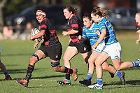 Action from the Canterbury Metro premier women's club rugby match between Lincoln University and Christchurch at Lincoln University in Christchurch, New Zealand on Saturday, 22 May 2021. Photo: Martin Hunter / lintottphoto.co.nz