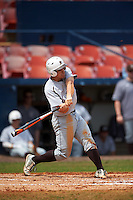 Lehigh Mountain Hawks second baseman Mike Garzillo (2) hits a home run during a game against the Dartmouth Big Green on March 20, 2016 at Chain of Lakes Stadium in Winter Haven, Florida.  Dartmouth defeated Lehigh 5-4.  (Mike Janes/Four Seam Images)