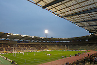 20121020 Copyright onEdition 2012©.Free for editorial use image, please credit: onEdition..General view of the King Baudouin Stadium, Brussels during the Heineken Cup Round 2 match between Saracens and Racing Metro 92 on Saturday 20th October 2012 (Photo by Rob Munro)..For press contacts contact: Sam Feasey at brandRapport on M: +44 (0)7717 757114 E: SFeasey@brand-rapport.com..If you require a higher resolution image or you have any other onEdition photographic enquiries, please contact onEdition on 0845 900 2 900 or email info@onEdition.com.This image is copyright the onEdition 2012©..This image has been supplied by onEdition and must be credited onEdition. The author is asserting his full Moral rights in relation to the publication of this image. Rights for onward transmission of any image or file is not granted or implied. Changing or deleting Copyright information is illegal as specified in the Copyright, Design and Patents Act 1988. If you are in any way unsure of your right to publish this image please contact onEdition on 0845 900 2 900 or email info@onEdition.com