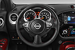Car pictures of steering wheel view of a 2015 Nissan Juke Acenta 5 Door Suv Steering Wheel