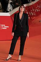 "Italian director Elisa Amoruso poses on the red carpet for the screening of the film ""Maledetta Primavera"" during the 15th Rome Film Festival (Festa del Cinema di Roma) at the Auditorium Parco della Musica in Rome on October 21, 2020.<br /> UPDATE IMAGES PRESS/Isabella Bonotto"