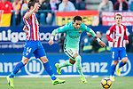 Neymar da Silva Santos Junior (r) of FC Barcelona in action during their La Liga match between Atletico de Madrid and FC Barcelona at the Santiago Bernabeu Stadium on 26 February 2017 in Madrid, Spain. Photo by Diego Gonzalez Souto / Power Sport Images