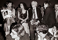 Minelli Jagger Warhol6901.JPG<br /> New York, NY 1978 FILE PHOTO<br /> Liza Minelli Bianca Jagger Andy Warhol<br /> Studio 54<br /> Digital photo by Adam Scull-PHOTOlink.net<br /> ONE TIME REPRODUCTION RIGHTS ONLY<br /> NO WEBSITE USE WITHOUT AGREEMENT<br /> 718-487-4334-OFFICE  718-374-3733-FAX