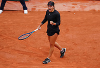 5th June 2021; Roland Garros, Paris France; French Open tennis championships day 7;  Jessica Pegula of the United States reacts during her womens singles third round match against Sofia Kenin of the United States