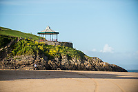 View of the band stand at  Tenby, Pembrokeshire, Wales, UK