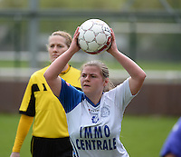 Finale Beker van West-Vlaanderen Vrouwen FC Knokke - SK Opex Girls Oostende : Jolien De Bruyne <br /> foto DAVID CATRY | Sportpix.be