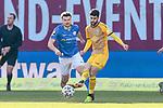 20.02.2021, xtgx, Fussball 3. Liga, FC Hansa Rostock - SV Waldhof Mannheim, v.l. Bjoern Rother (Hansa Rostock, 6), Hamza Saghiri (Mannheim, 35) <br /> <br /> (DFL/DFB REGULATIONS PROHIBIT ANY USE OF PHOTOGRAPHS as IMAGE SEQUENCES and/or QUASI-VIDEO)<br /> <br /> Foto © PIX-Sportfotos *** Foto ist honorarpflichtig! *** Auf Anfrage in hoeherer Qualitaet/Aufloesung. Belegexemplar erbeten. Veroeffentlichung ausschliesslich fuer journalistisch-publizistische Zwecke. For editorial use only.