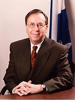 Andre Boulerice a son bureau de compte, vers 1997<br /> <br /> <br /> PHOTO D'ARCHIVE: Agence Quebec Presse