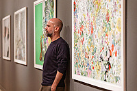 "Pictured: Stefanos Rokos. Wednesday 03 April 2019<br /> Re: Press call before the opening of Stefanos Rokos' exhibition ""No More Shall We Part"" with paintings based on the 2001 Nick Cave and The Bad Seeds album with the same title, Benaki Museum, Athens, Greece."