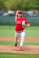 Philadelphia Phillies pitcher Gunner Mayer (24) during an Extended Spring Training game against the New York Yankees on June 22, 2021 at the Carpenter Complex in Clearwater, Florida. (Mike Janes/Four Seam Images)