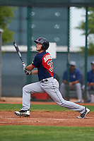 Cleveland Indians Connor Marabell (35) during an instructional league game against the Los Angeles Dodgers on October 15, 2015 at the Goodyear Ballpark Complex in Goodyear, Arizona.  (Mike Janes/Four Seam Images)