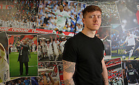 Alfie Mawson of Swansea City FC at The Liberty Stadium, Swansea, Wales, UK. Thursday 09 February 2017