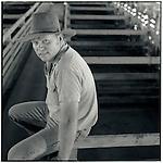 JUNE 1995    -  Rockhampton, Australia   - A stockman at the cattle auctions. Rockhampton is Australia's beef capital..