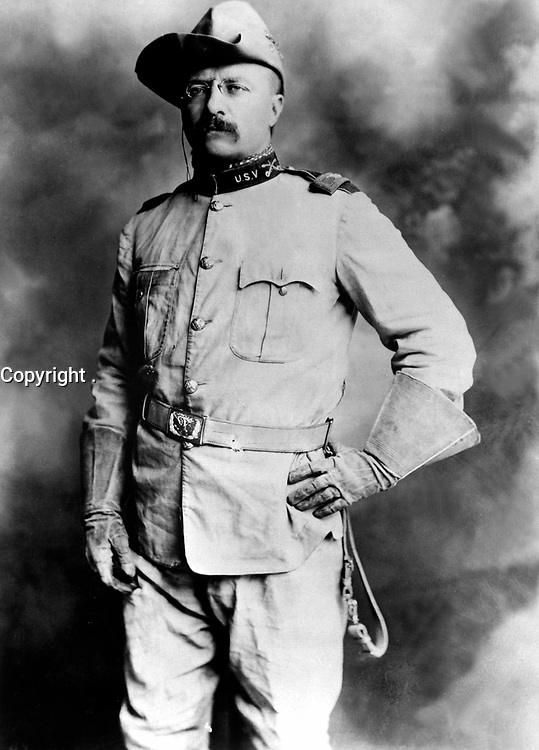 Col. Theodore Roosevelt, 1st Cavalry, U.S.V. Ca. 1898. Rockwood.   (Army)<br /> Exact Date Shot Unknown<br /> NARA FILE #:  111-SC-89751<br /> WAR & CONFLICT #:  297