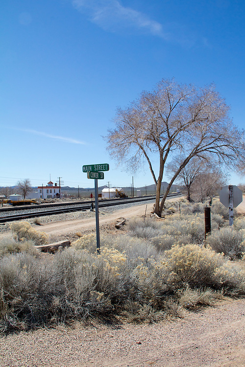 Modena, Utah, Old railroad town, America's disappearing small towns, railroad crossing,