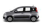 Car Driver side profile view of a 2017 Fiat Panda Lounge 5 Door Hatchback Side View