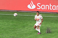 FOXBOROUGH, MA - MAY 22: Cristian Casseres Jr. #23 of New York Red Bulls passes the ball during a game between New York Red Bulls and New England Revolution at Gillette Stadium on May 22, 2021 in Foxborough, Massachusetts.