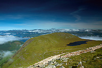 Meall an t-Suidhe, the Halfway Lochan, from Ben Nevis, Lochaber