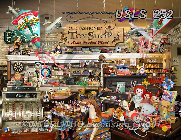 Lori, LANDSCAPES, LANDSCHAFTEN, PAISAJES, paintings+++++Old Fashioned Toy Shop_72,USLS252,#l#, EVERYDAY ,puzzle,puzzles
