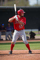 Los Angeles Angels center fielder Nonie Williams (27) during a Minor League Spring Training game against the Colorado Rockies at Tempe Diablo Stadium Complex on March 18, 2018 in Tempe, Arizona. (Zachary Lucy/Four Seam Images)