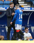 22.08.2020 Rangers v Kilmarnock: Steven Gerrard with Ryan Kent