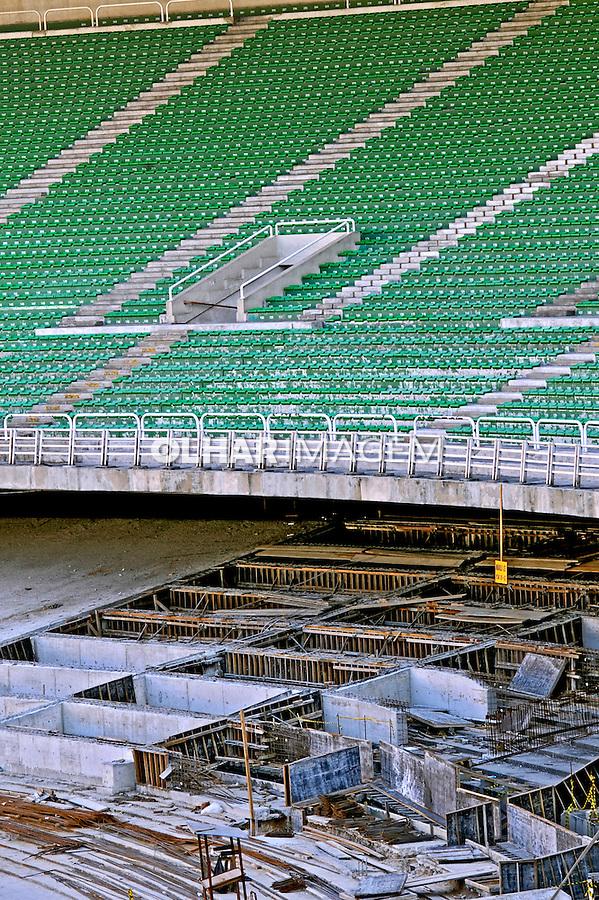 Reforma do Estádio do Maracanã. RJ. Foto de Ricardo Azoury.
