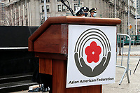 NEW YORK, NEW YORK- FEBRUARY 27, 2021: Atmosphere during the American Asian Federation's Anti-Asian Hate Rally held at Foley Square/Federal Plaza in the lower Manhattan section of New York City on February 27, 2021.  Photo Credit: mpi43/MediaPunclh