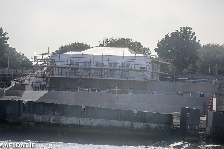 Dun Laoghaire Baths  - The old Pavilion building has been stabilised enclosed and is now fully weathered