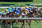 July 25, 2020: start of the 9th race on Alfred G Vanderbilt  Day at Saratoga Race Course in Saratoga Springs, New York. Rob Simmons/Eclipse Sportswire/CSM