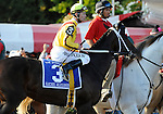 09 September 05: Rachel Alexandra (no. 3), ridden by Calvin Borel and trained by Steve Asmussen, wins the 56th running of the grade 1 Woodward Stakes for three year olds and upward at Saratoga Race Track in Saratoga Springs, New York.