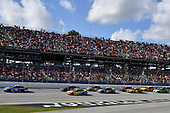Monster Energy NASCAR Cup Series<br /> Alabama 500<br /> Talladega Superspeedway<br /> Talladega, AL USA<br /> Sunday 15 October 2017<br /> Daniel Suarez, Joe Gibbs Racing, Camping World Toyota Camry leads<br /> World Copyright: Rusty Jarrett<br /> LAT Images