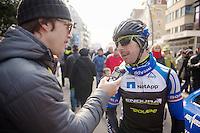 3 Days of De Panne.stage 3a: De Panne - De Panne ..Russell Downing (GBR) interviewed...