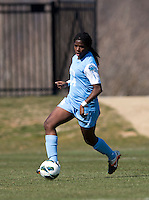 Satara Murray. The Washington Spirit defeated the North Carolina Tar Heels in a preseason exhibition, 2-0, at the Maryland SoccerPlex in Boyds, MD.