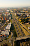 Aerial of Sunset Highway 26 looking west, Oregon