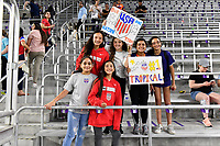 ORLANDO, FL - MARCH 05: USA supporters during a game between England and USWNT at Exploria Stadium on March 05, 2020 in Orlando, Florida.