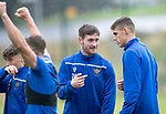 St Johnstone Training…04.09.19<br />Anthony Ralston pictured during training at McDiarmid Park with Wallace Duffy<br />Picture by Graeme Hart.<br />Copyright Perthshire Picture Agency<br />Tel: 01738 623350  Mobile: 07990 594431
