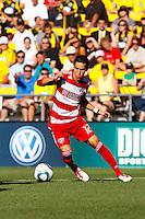 28 AUGUST 2010:  FC Dallas' Eric Avila (12) during MLS soccer game between FC Dallas vs Columbus Crew at Crew Stadium in Columbus, Ohio on August 28, 2010.