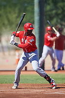 Cincinnati Reds Montrell Marshall (9) during an Instructional League game against the Chicago White Sox on October 11, 2016 at the Cincinnati Reds Player Development Complex in Goodyear, Arizona.  (Mike Janes/Four Seam Images)