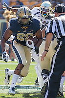 Pitt running back Rachid Ibrahim (29). The Akron Zips Defeated the Pitt Panthers 21-10 at Heinz Field, Pittsburgh. Pennsylvania on September 27, 2014.