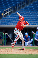 Philadelphia Phillies Tucker Maxwell (29) at bat during an Instructional League game against the Toronto Blue Jays on September 17, 2019 at Spectrum Field in Clearwater, Florida.  (Mike Janes/Four Seam Images)
