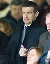 DUNFERMLINE MANAGER JIM MCINTYRE TAKES HIS SEAT IN THE STAND AT TYNECASTLE